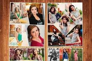 Senior Template Photo Collage Set