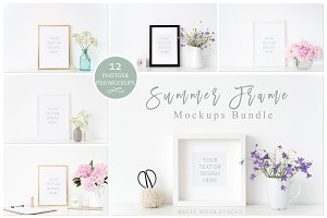 Summer Frame Mockup Bundle