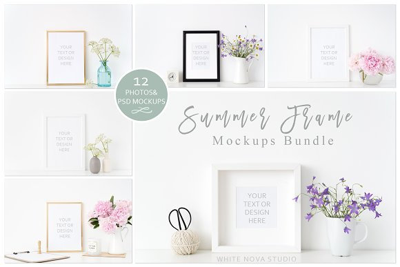 Summer Frame Mockup Bundle ~ Product Mockups ~ Creative Market