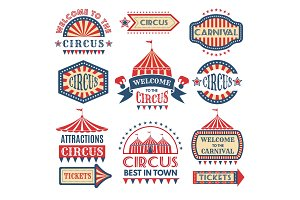 Carnival event logotypes template