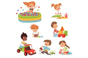 Various games and toys for preschool