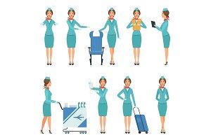 Stewardess characters. Various
