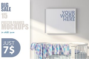 15PSD Mockups in kids room ratio8x10