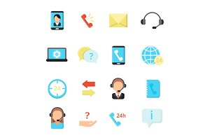 Call center symbols. Various vector