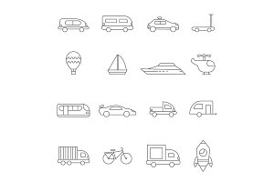Transport symbols linear