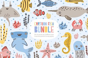Сute funny marine fishes