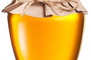 Jar full of fresh honey. File contai