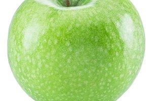 Ripe green apple fruit.