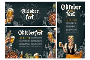 Three poster to oktoberfest festival