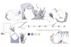 LAVENDER. WEDDING MOCKUPS BUNDLE.