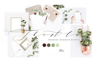 THISTLE. WEDDING MOCKUPS BUNDLE.