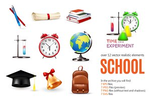 Sale! School Objects Set