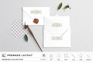 Card Invite & Envelope Mockup