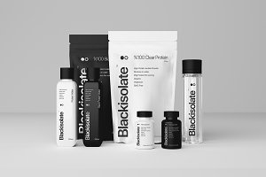 Sports Supplement Brand Mockup Pack
