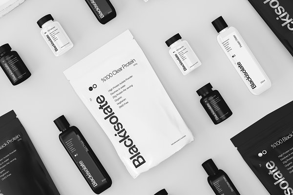 Product Mockups: S48 Mockups - Sports Supplement Brand Mockup Pack