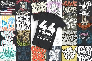 44 T-Shirt designs collection