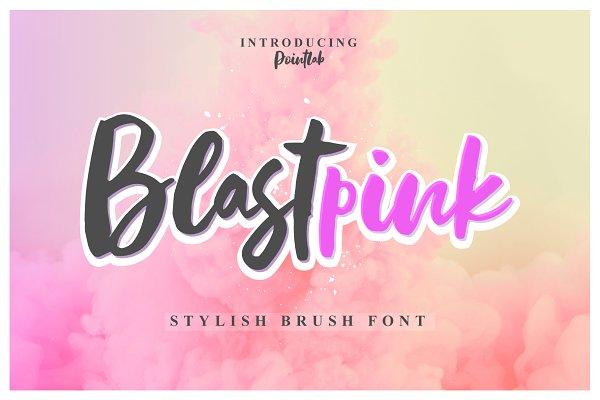 Fonts: pointlab - NEW FONT | Blastpink Script