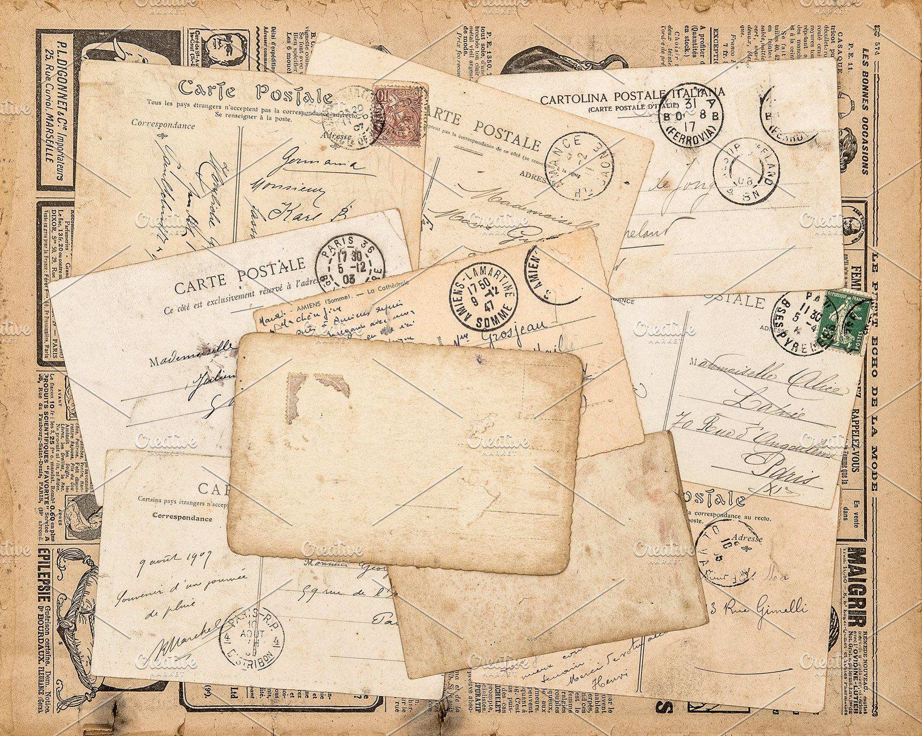 Save Vintage Postcards Handwritten Letter