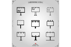 Billboard icon vector