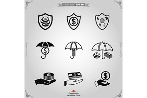 Business insurance icon vector