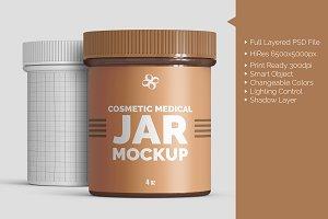 Cosmetic Medical 4oz Jar Mockup