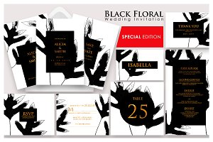 Black Floral - Invitation Ac.20