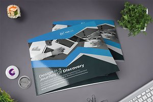 Clean Square Tri Fold Brochure