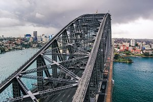 View of Sydney Harbour Bridge from t
