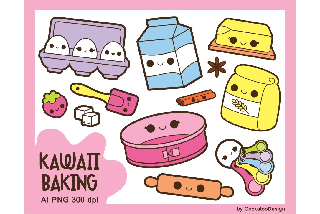 Kawaii Baking Day Illustrations Creative Market