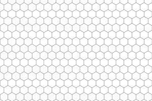 White hexagons shape pattern backgro