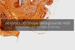 Abstract 3D Shape Backgrounds Vol3