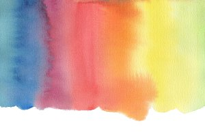 Abstract watercolor blot painted