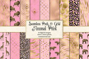 Pink and Gold Animal Skins