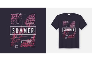 Summer. T-shirt design.
