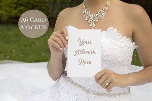 Wedding Invitation Mockup - Bride