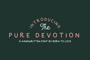 Pure Devotion - Typeface