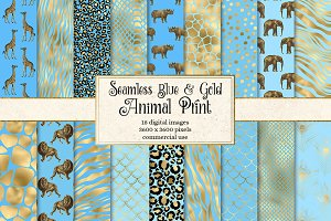 Blue and Gold Animal Skins