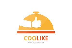 Vector dish and like logo