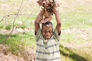Young African American Boy Playing i