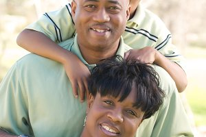 Beautiful African American Family Po