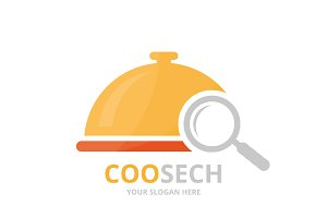 Vector dish and loupe logo