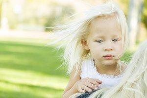 Melancholy Portrait of Cute Little G