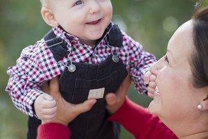 Little Baby Boy Having Fun With Mom