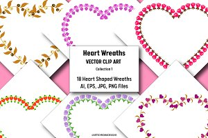 Heart Wreaths - Clip Art Collection