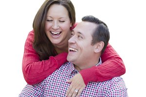Attractive Caucasian Couple Laughing