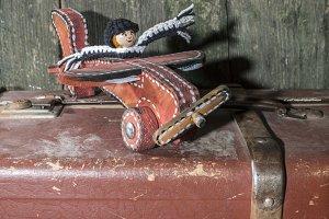 Vintage children's toy airplane