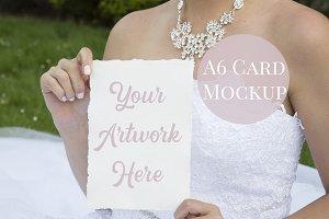 A6 Wedding Mockup Card