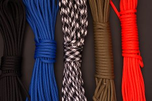 Multicolored ropes. Multicolored par