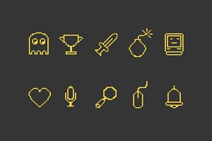 10 8 Bit Icons