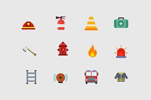 12 Firefighter Icons